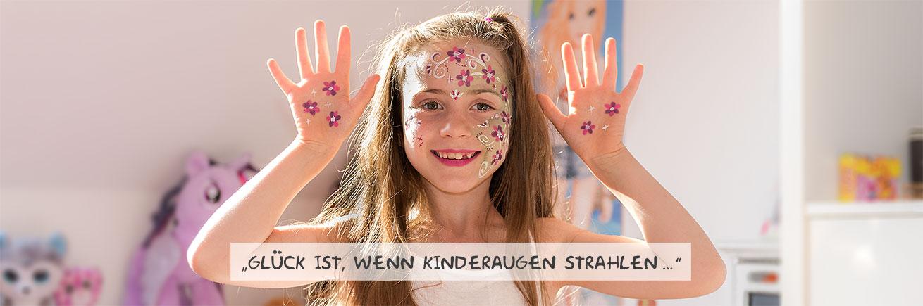Colorella Kinderspaß und Kinderschminken: Glück ist, wenn Kinderaugen strahlen
