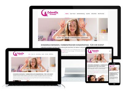 Neue responsive Webseite von Colorella